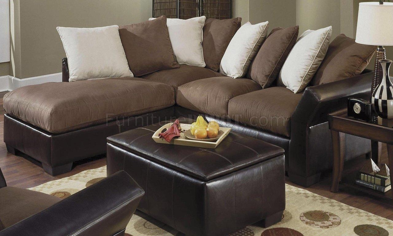 Interior: Impressive Microsuede Sectional Collections Sets For Within Leather And Suede Sectional (Image 14 of 20)