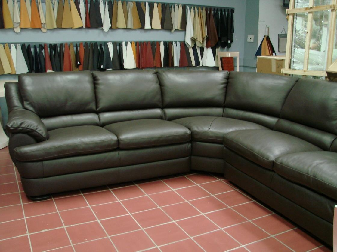 Interior: Mesmerizing Overstuffed Couches With Fascinating In Green Leather Sectional Sofas (View 9 of 20)