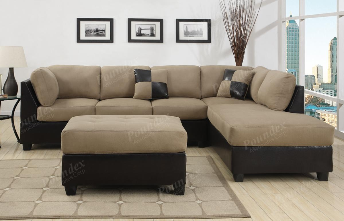 Interior: Sectional Microfiber Couch | Microsuede Sectional Within Leather And Suede Sectional Sofa (Image 15 of 20)