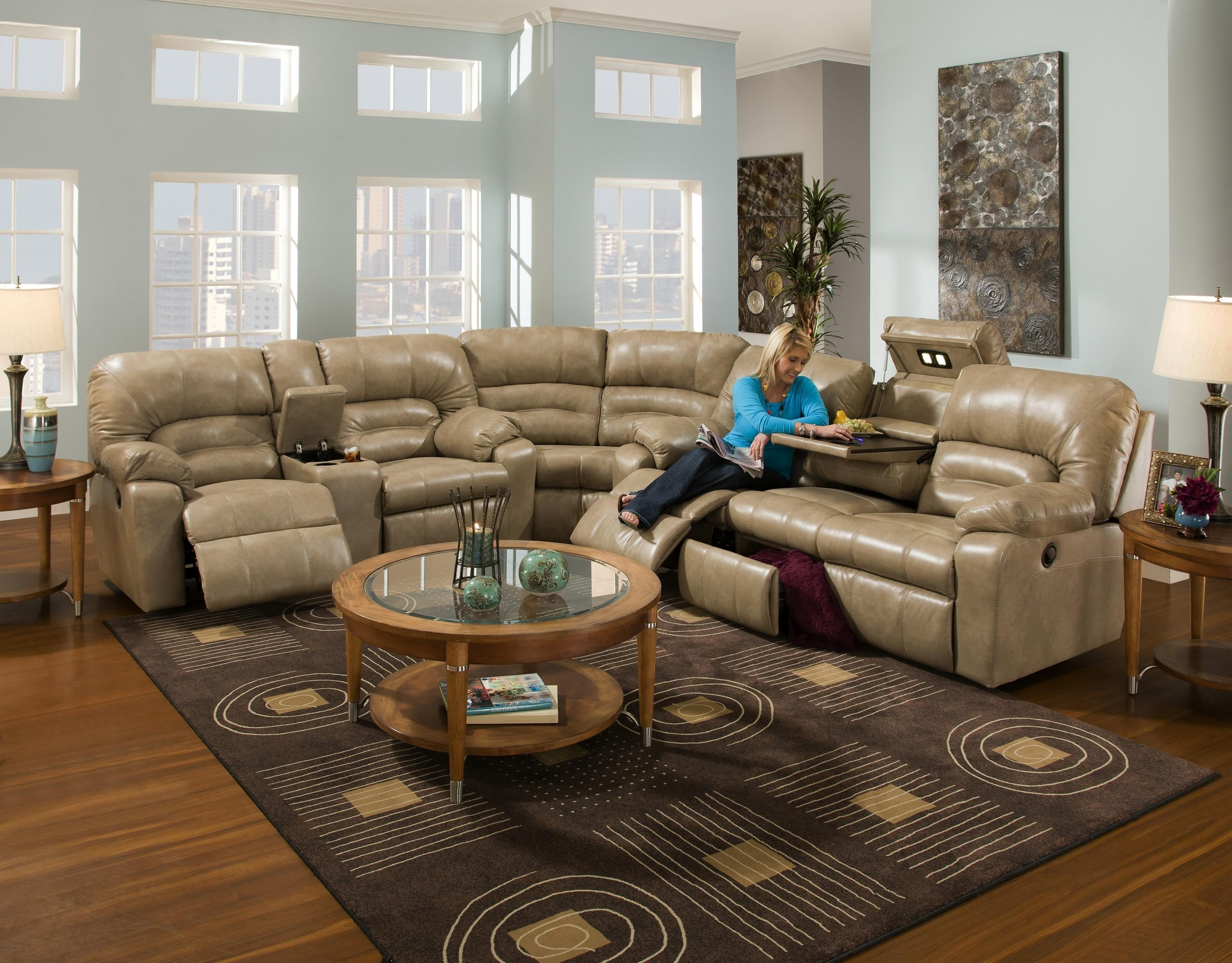 Interior: Stunning Micro Cheap Leather Sectionals For Living Room In Cheap Reclining Sectionals (Image 12 of 15)