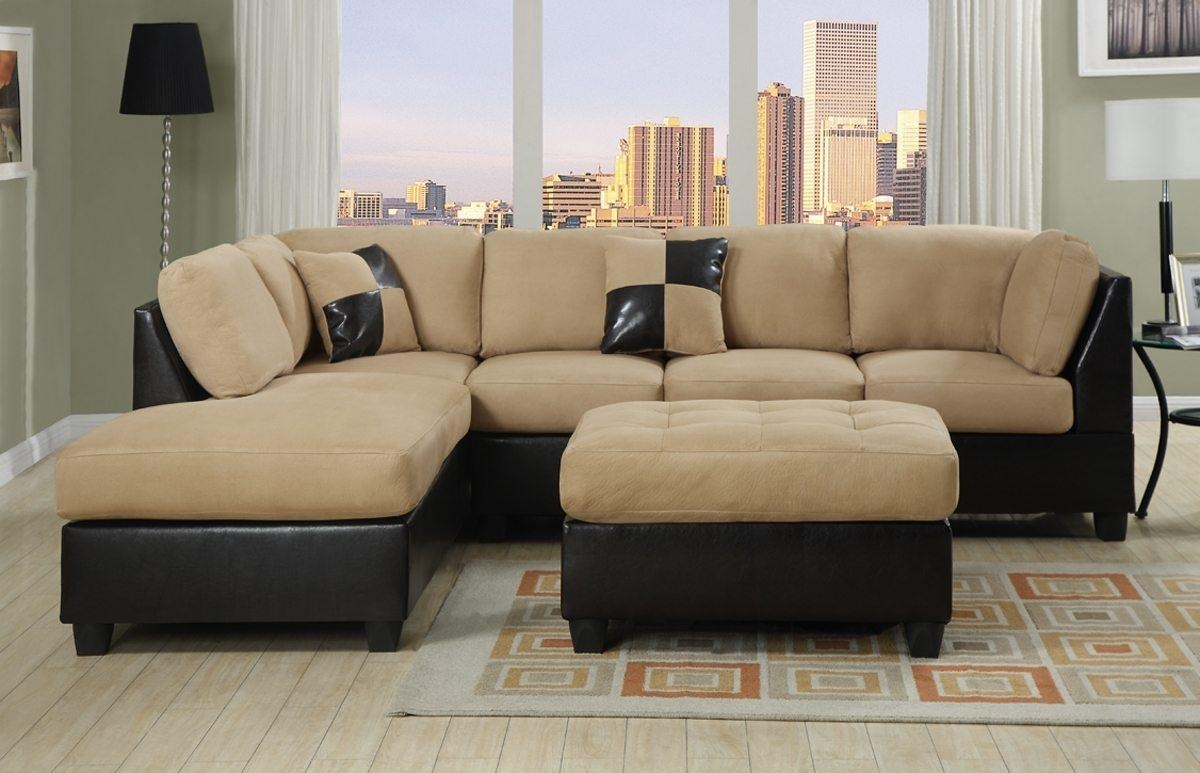 Interior: Stunning Micro Cheap Leather Sectionals For Living Room With Regard To Black Microfiber Sectional Sofas (Image 9 of 20)