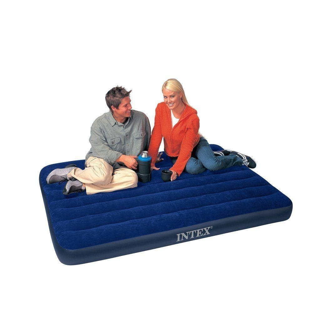 Intex 68758 Downy Full Airbed Inflatable Full Size Air Mattress | Ebay With Inflatable Full Size Mattress (Image 3 of 20)