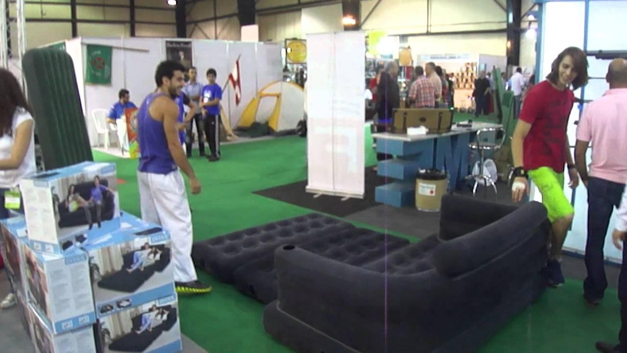 Intex Air Beds 1 – Youtube Throughout Intex Queen Sleeper Sofas (Image 3 of 20)