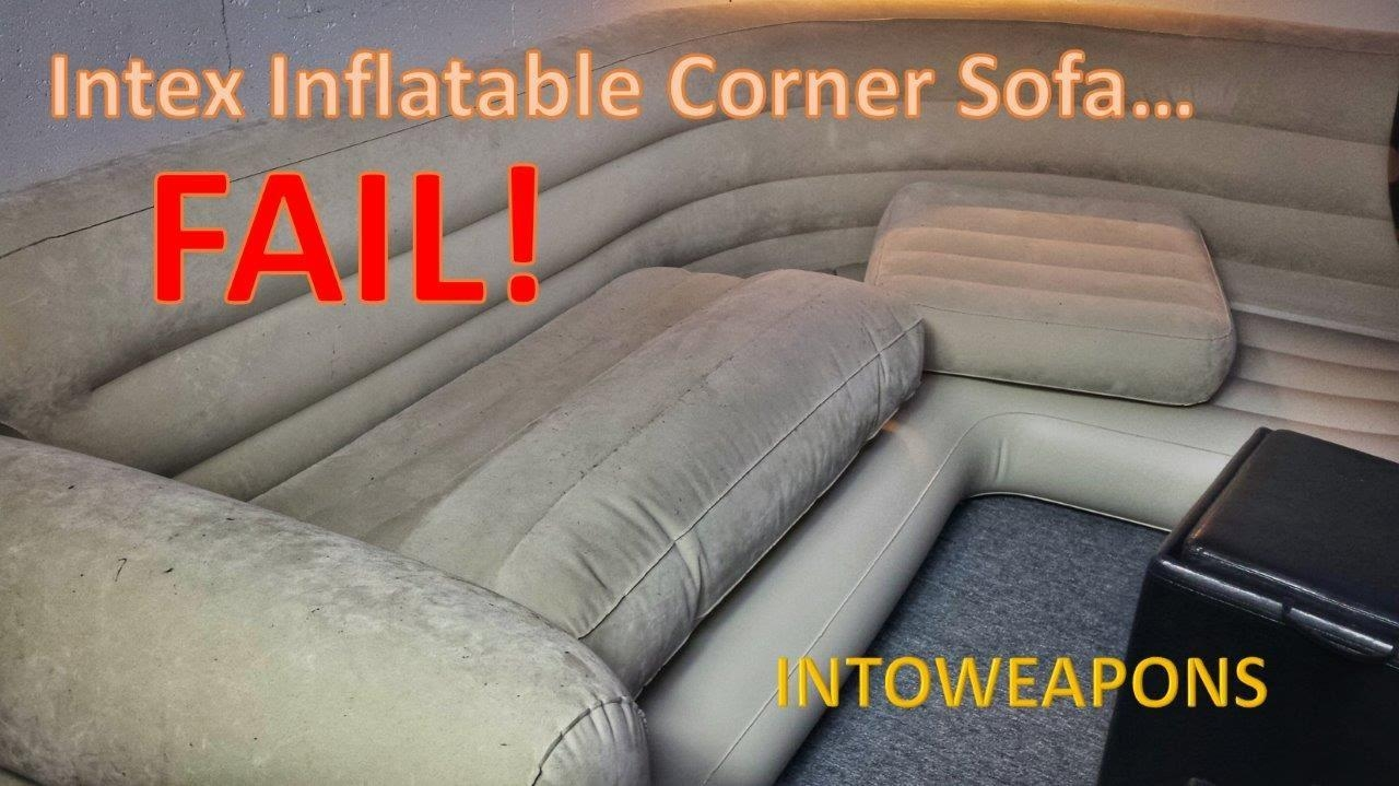 Intex Inflatable Corner Sofa 60 Day Review – Failure! – Youtube Throughout Intex Air Couches (View 4 of 20)
