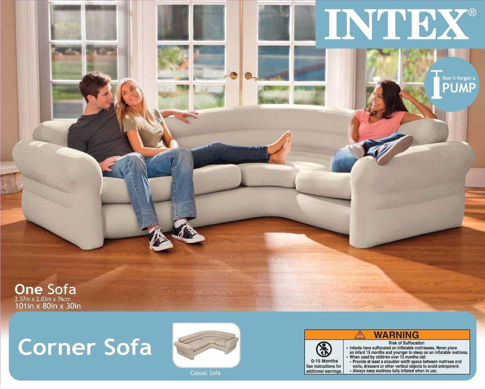 Intex Inflatable Corner Sofa Portable Modern Contemporary Air Intended For Intex Air Couches (Image 9 of 20)