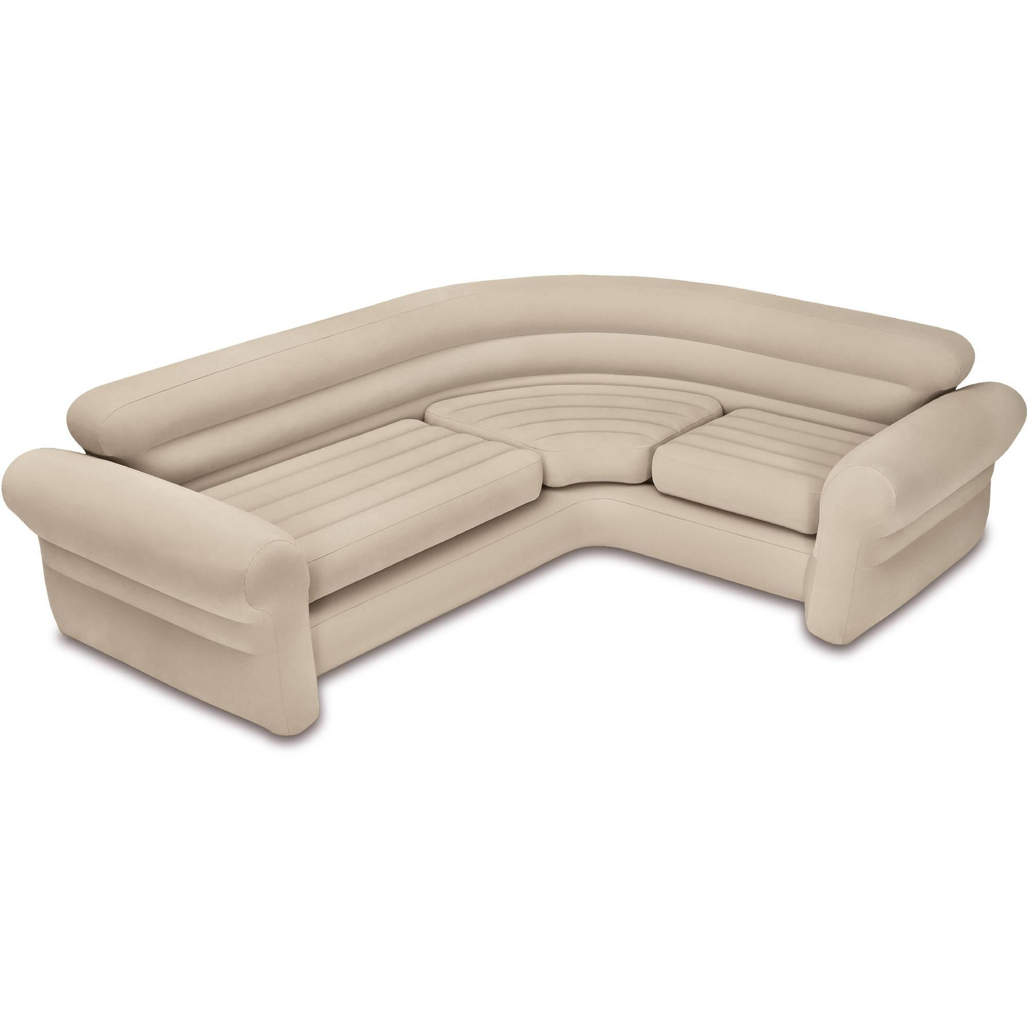 Intex Inflatable Corner Sofa – Walmart Inside Intex Air Couches (Image 7 of 20)