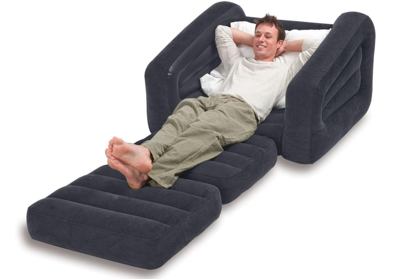 Intex Inflatable Pull Out Chair And Twin Air Mattress Pertaining To Intex Air Sofa Beds (View 17 of 20)