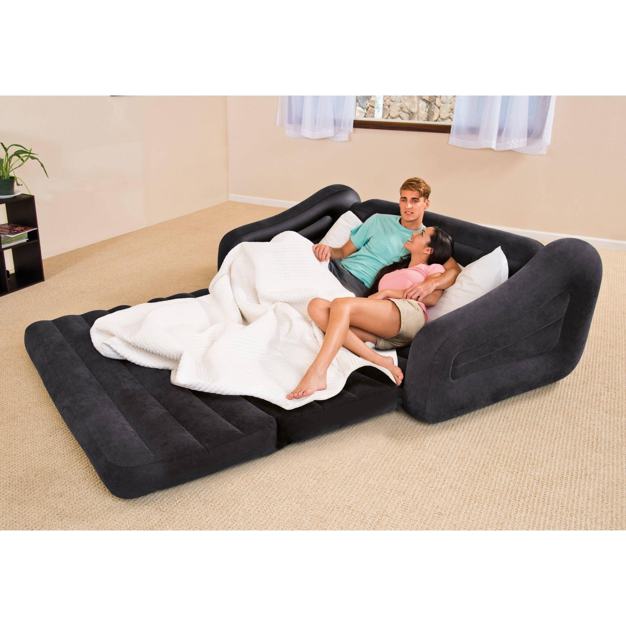 Intex Inflatable Pull Out Sofa Queen Mattress Sleeper With Concept Inside Intex Queen Sleeper Sofas (Image 8 of 20)