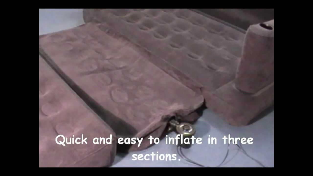 Intex Inflatable Pull Out Sofa & Queen Sized Airbed In One With Inflatable Pull Out Sofas (Image 5 of 20)
