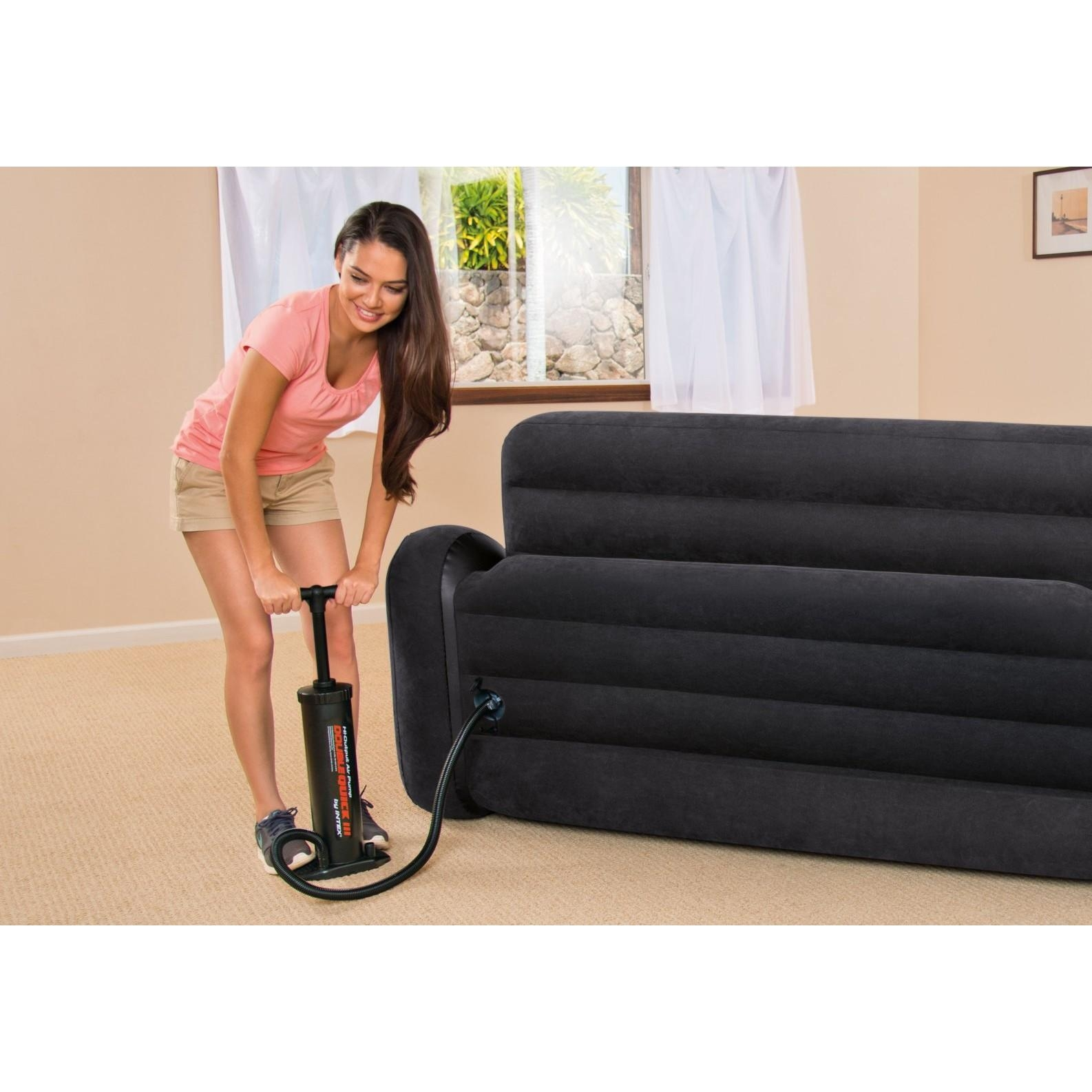 Intex Pull Out Sofa Inflatable Bed, Queen Throughout Inflatable Pull Out Sofas (Image 12 of 20)