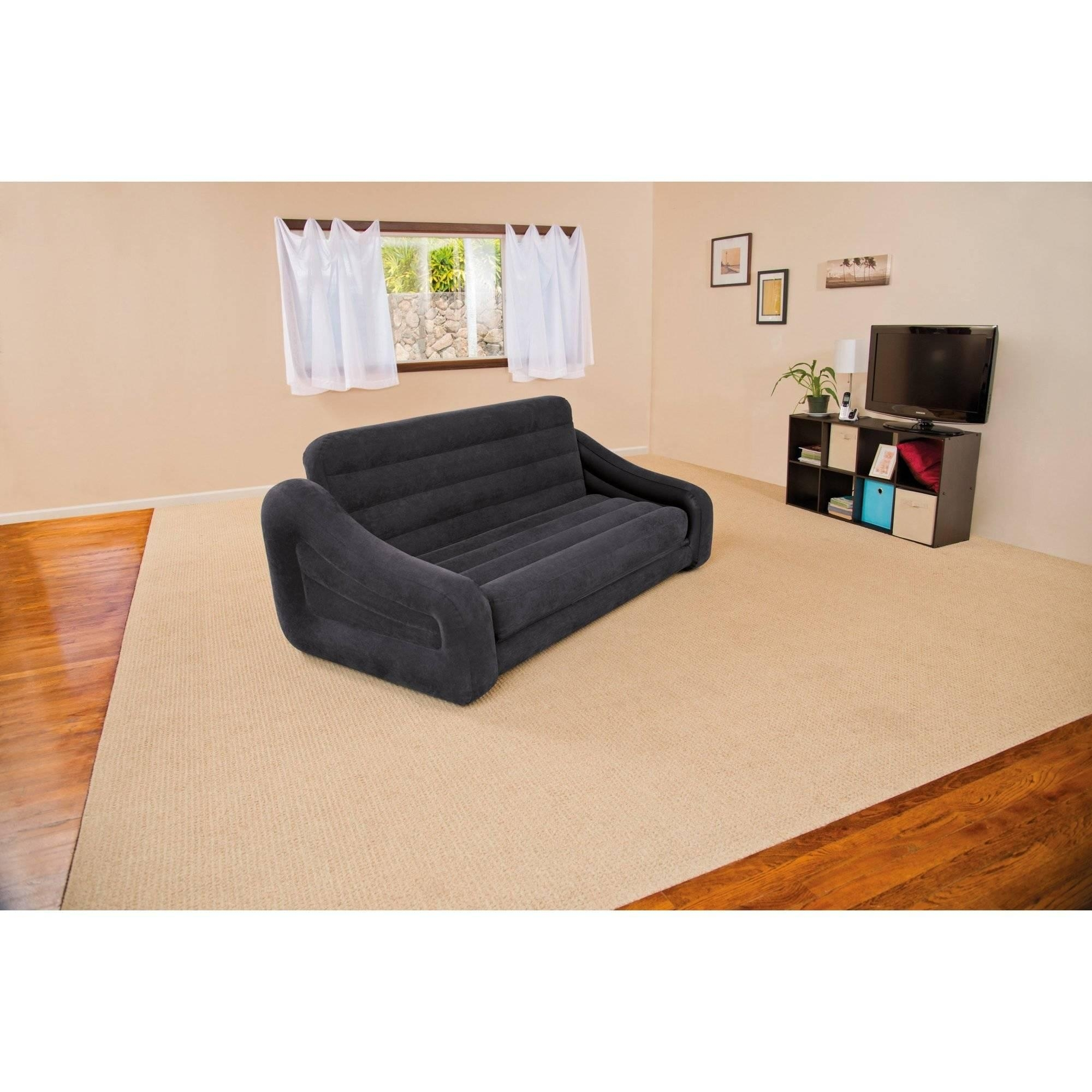 Intex Queen Inflatable Pull Out Sofa Bed – Walmart With Intex Sleep Sofas (View 12 of 20)
