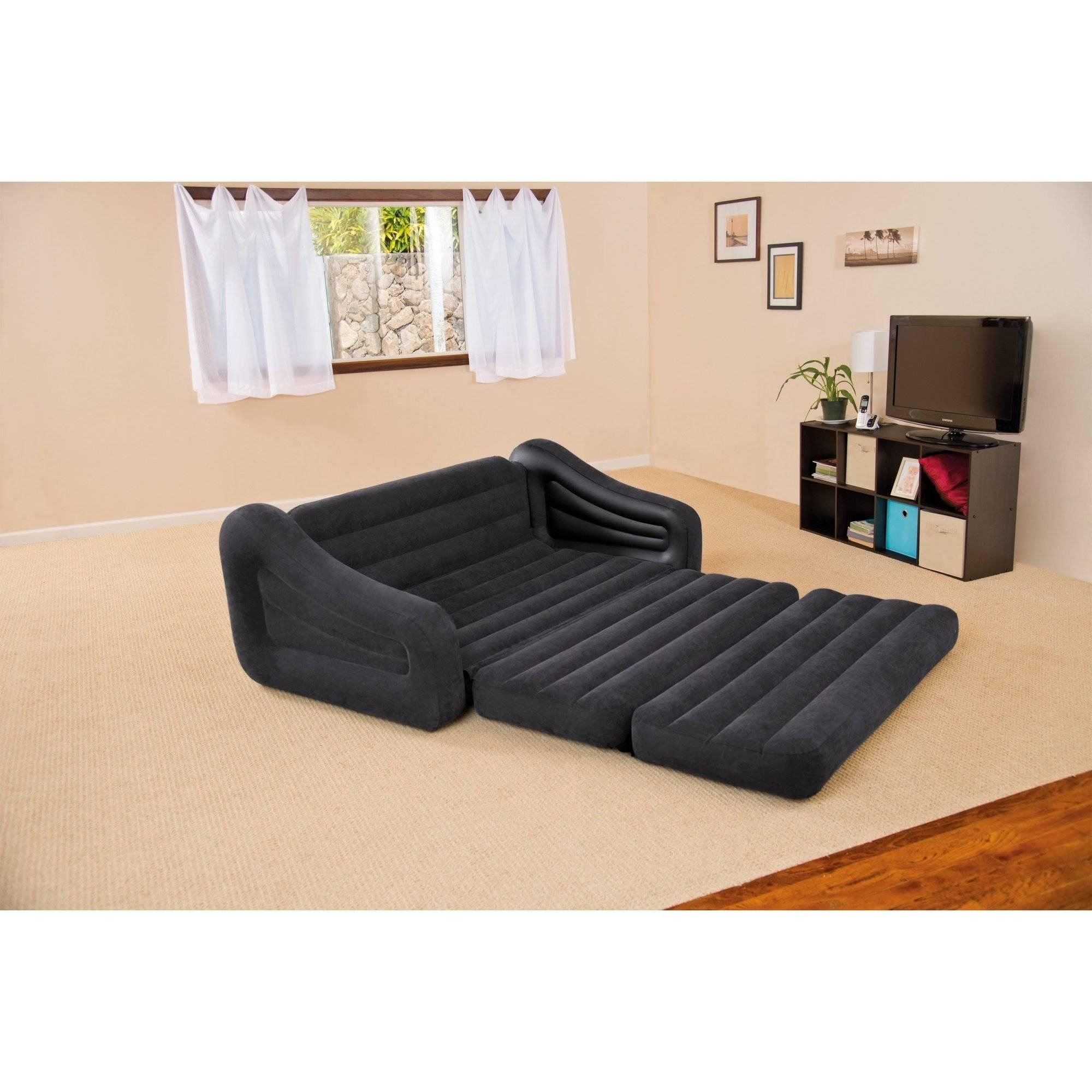 Intex Queen Inflatable Pull Out Sofa Bed - Walmart within Intex Air Couches
