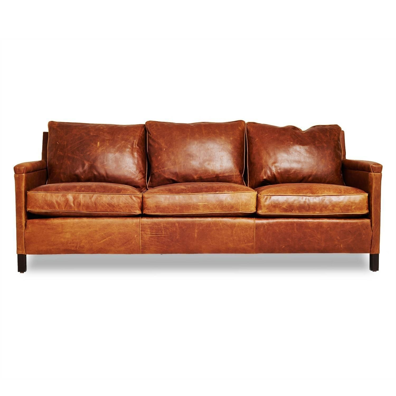 Irving Place Heston Leather Sofa – Abc Carpet & Home With Victorian Leather Sofas (Image 6 of 20)