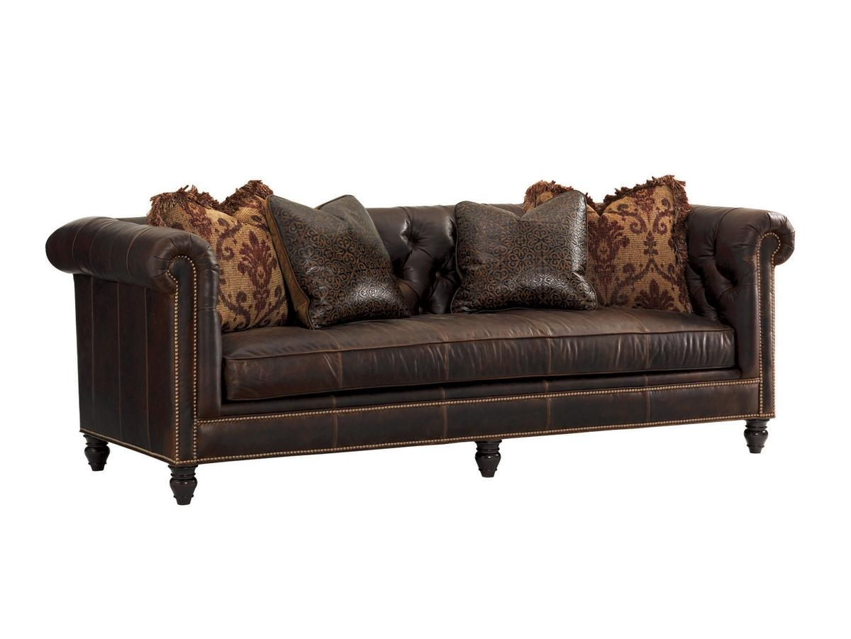 Island Traditions Manchester Leather Sofa | Lexington Home Brands For Manchester Sofas (View 6 of 20)