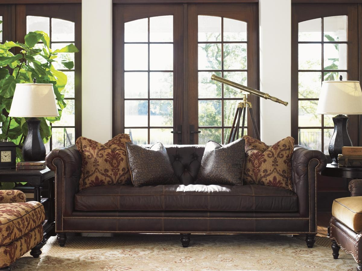 Island Traditions Manchester Leather Sofa | Lexington Home Brands Pertaining To Manchester Sofas (View 14 of 20)
