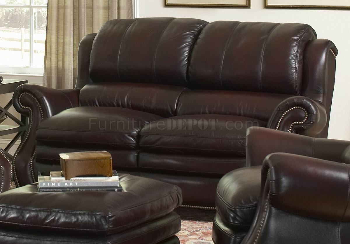 Italia Burgundy Bridgeport Sofa & Loveseat Set W/options In Bridgeport Sofas (Image 12 of 20)