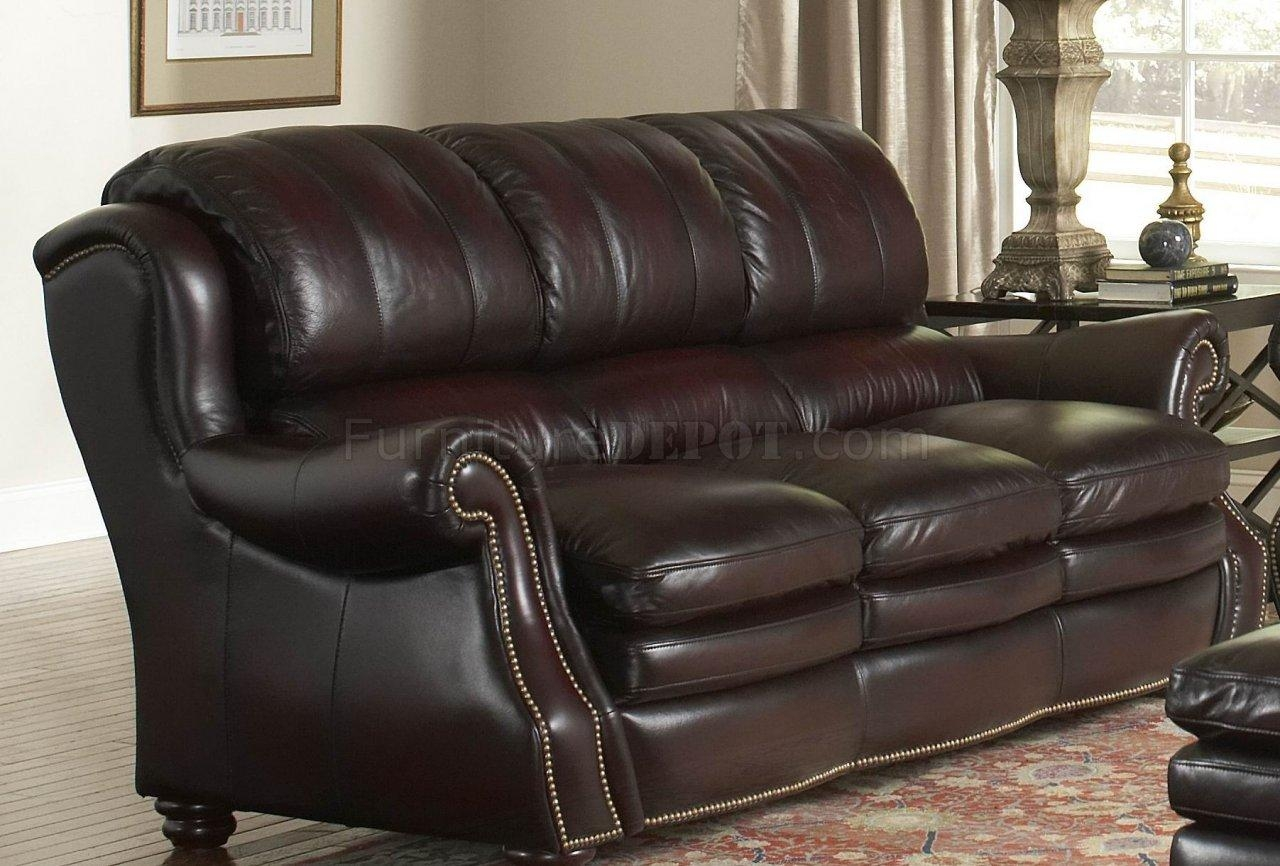 Italia Burgundy Bridgeport Sofa & Loveseat Set W/options In Bridgeport Sofas (Image 11 of 20)