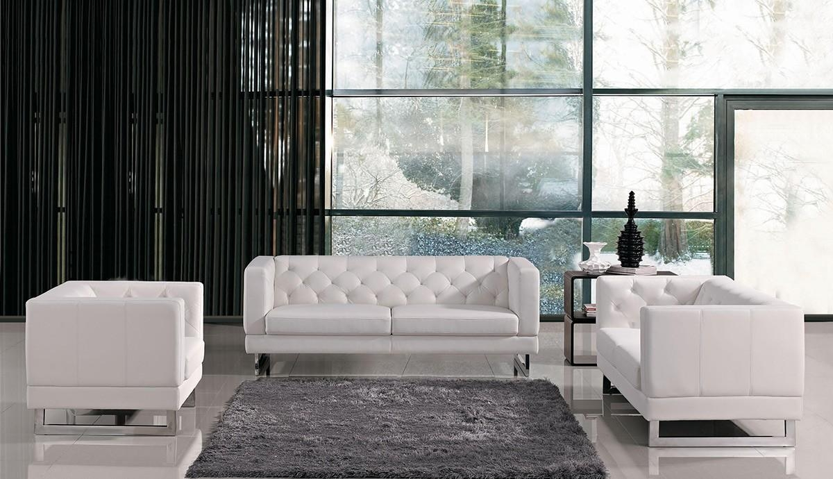 Italian Design Leatherette Sofa Set With Regard To Windsor Sofas (Image 4 of 20)