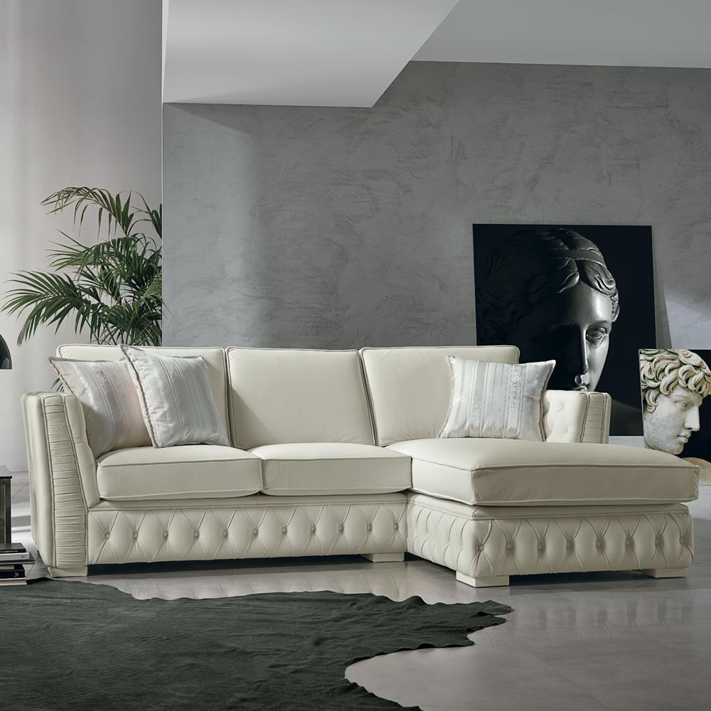 Barletta Italian Inpired White Leather Sofa Collection: 20 Best Collection Of White Leather Corner Sofa