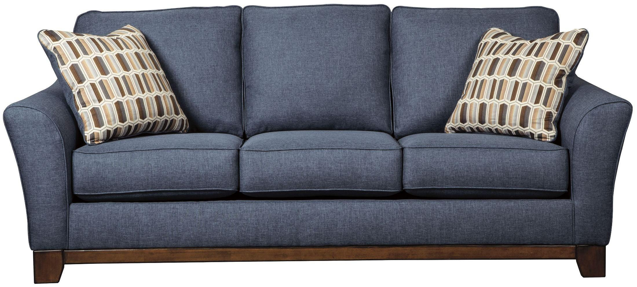 Janley Denim Sofa From Ashley | Coleman Furniture Inside Blue Denim Sofas (Image 10 of 20)