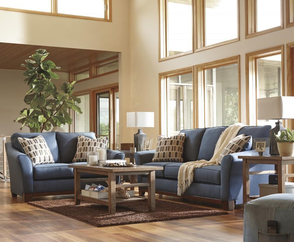 Janley - Denim - Sofa & Loveseat | 43807/38/35 | Living Room regarding Denim Sofas And Loveseats