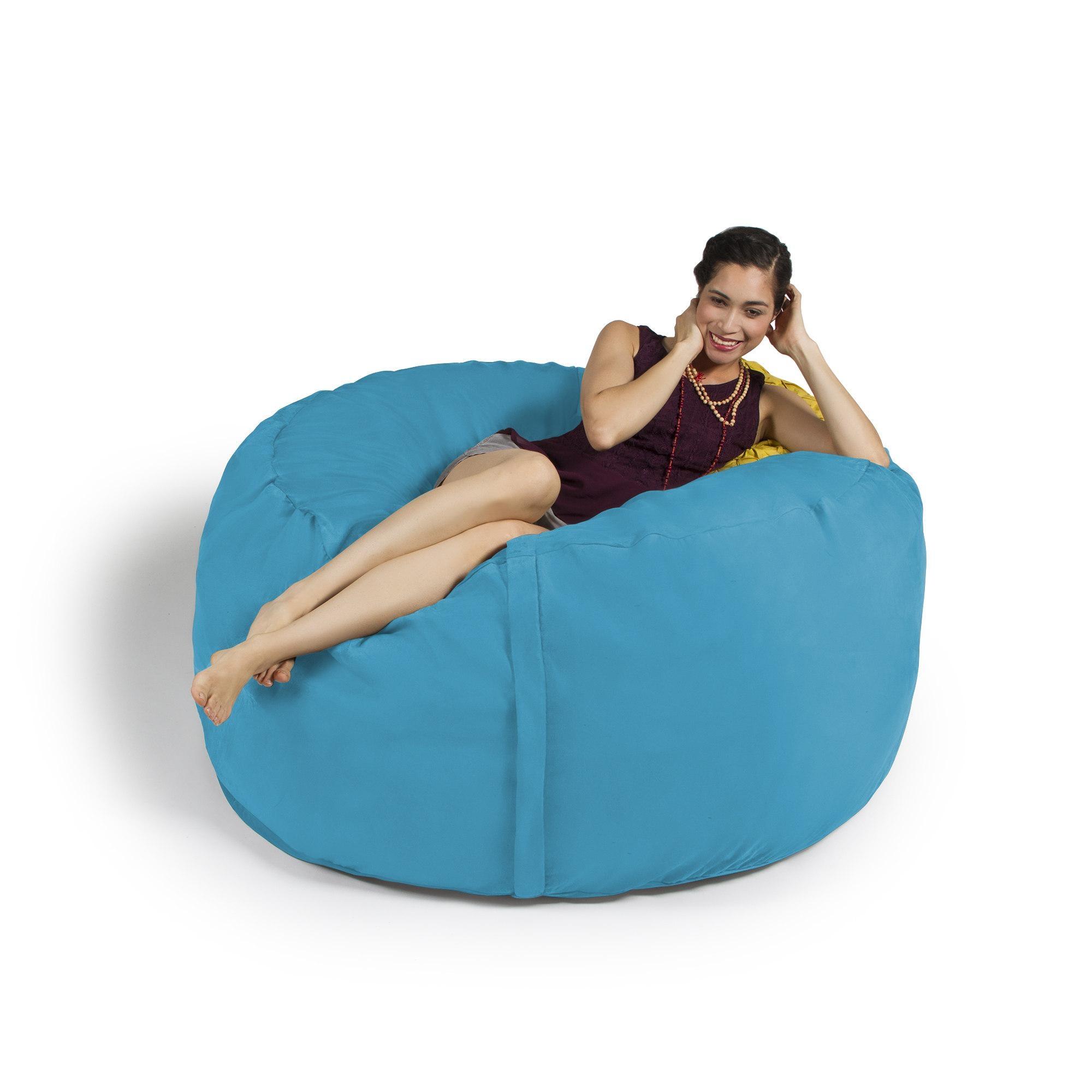 Jaxx 5 Ft. Giant Bean Bag Chair | Ebay for Giant Bean Bag Chairs