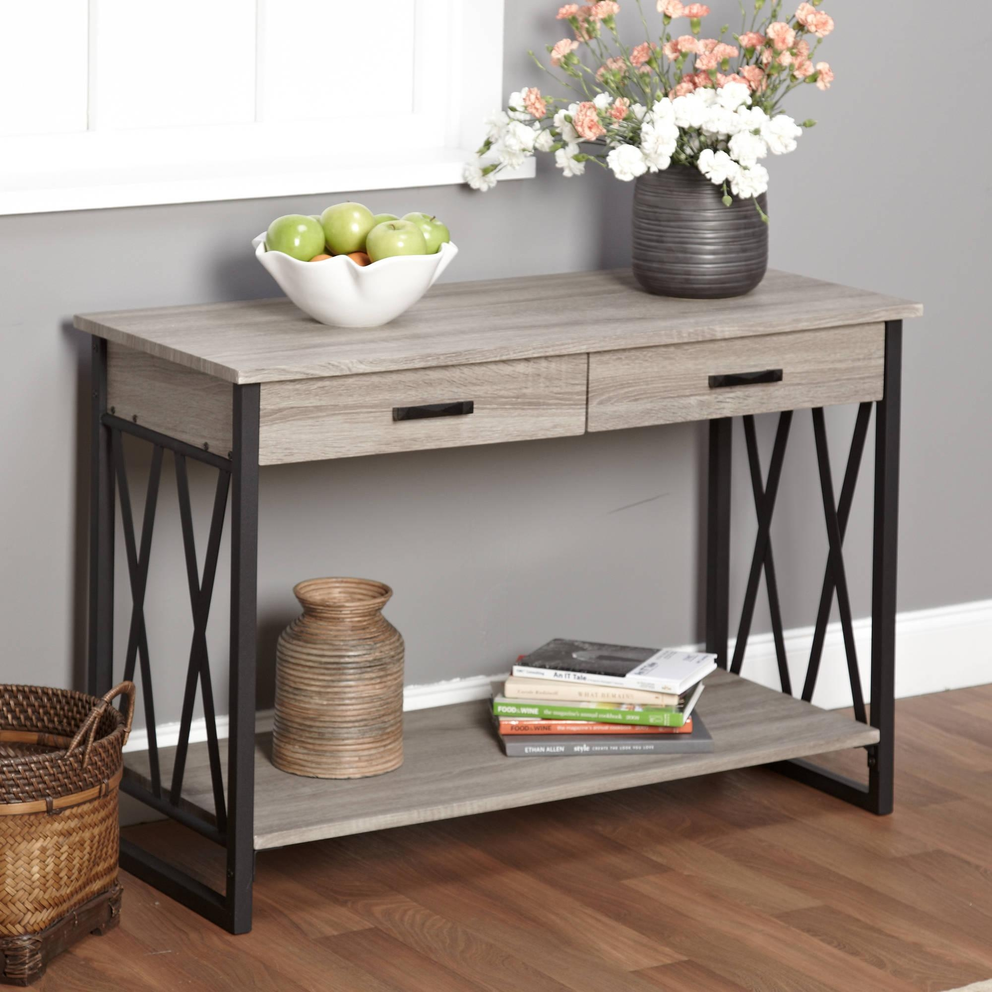 Jaxx Collection Sofa Table, Multiple Colors – Walmart Within Sofa Table Drawers (Image 7 of 20)
