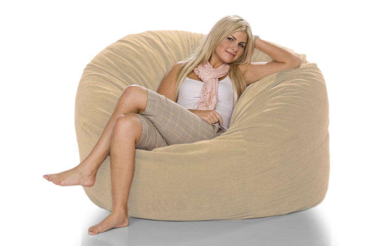 Jaxx Giant Bean Bag Chair & Reviews | Wayfair within Giant Bean Bag Chairs