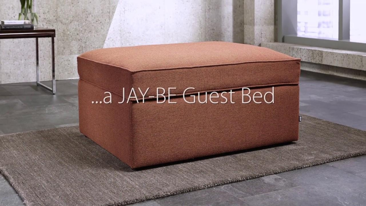 Jay Be Footstool Guest Bed | Deconti Uk – Youtube Throughout Footstool Pouffe Sofa Folding Bed (Image 8 of 20)