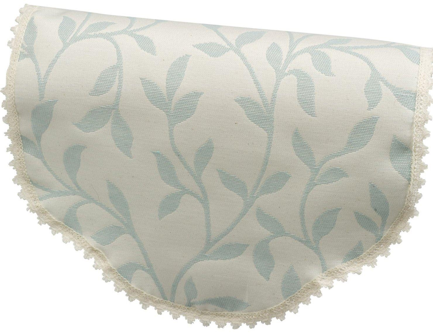 Jess Arm Caps Or Chair Backs Floral Cream Beige Natural within Sofa Arm Caps