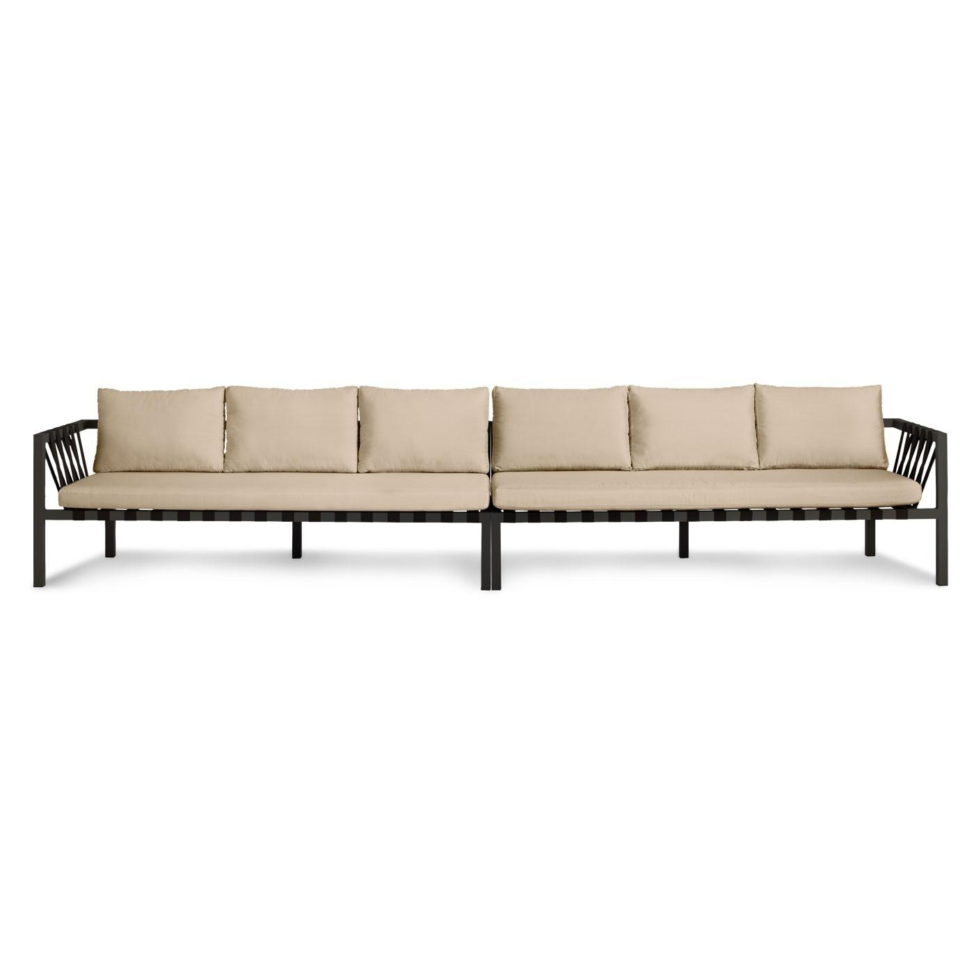 Jibe Extra Long Modern Outdoor Sectional Sofa | Blu Dot Throughout Long Sectional Sofa With Chaise (Image 9 of 20)