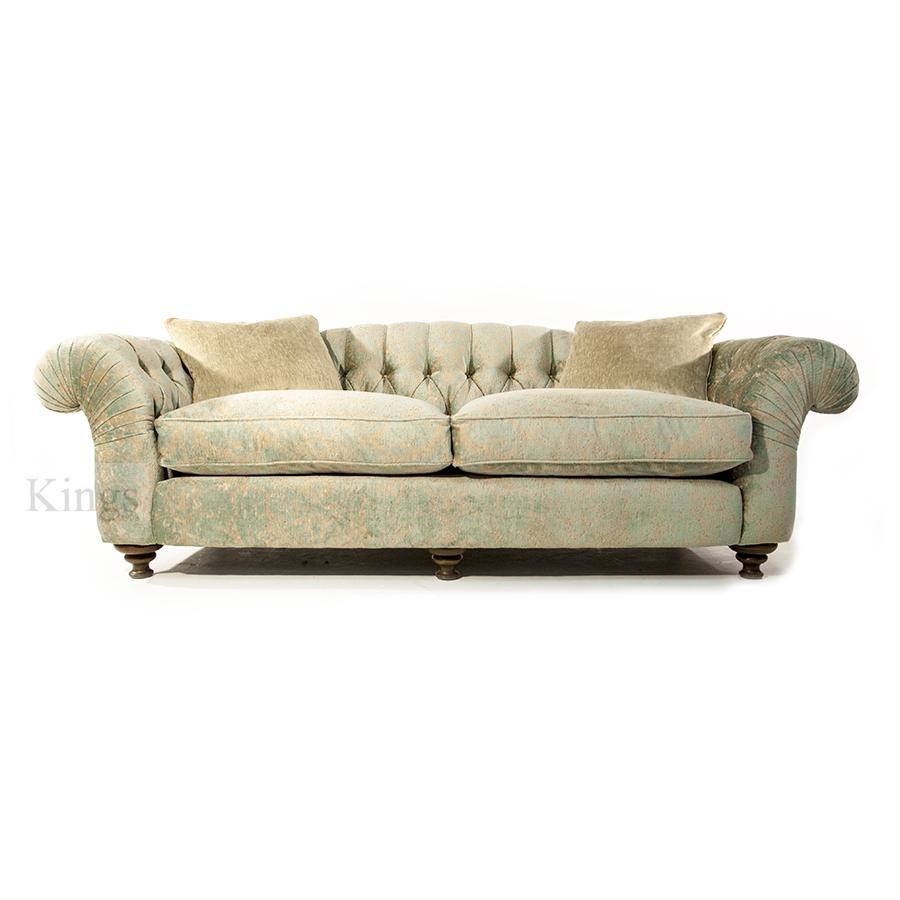 John Sankey Bloomsbury Grand Sofa In Florence Velvet Haze intended for Florence Grand Sofas