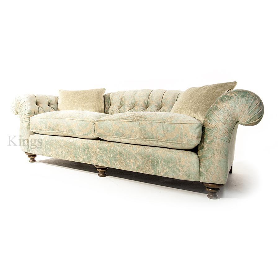 John Sankey Bloomsbury Grand Sofa In Florence Velvet Haze with regard to Florence Grand Sofas
