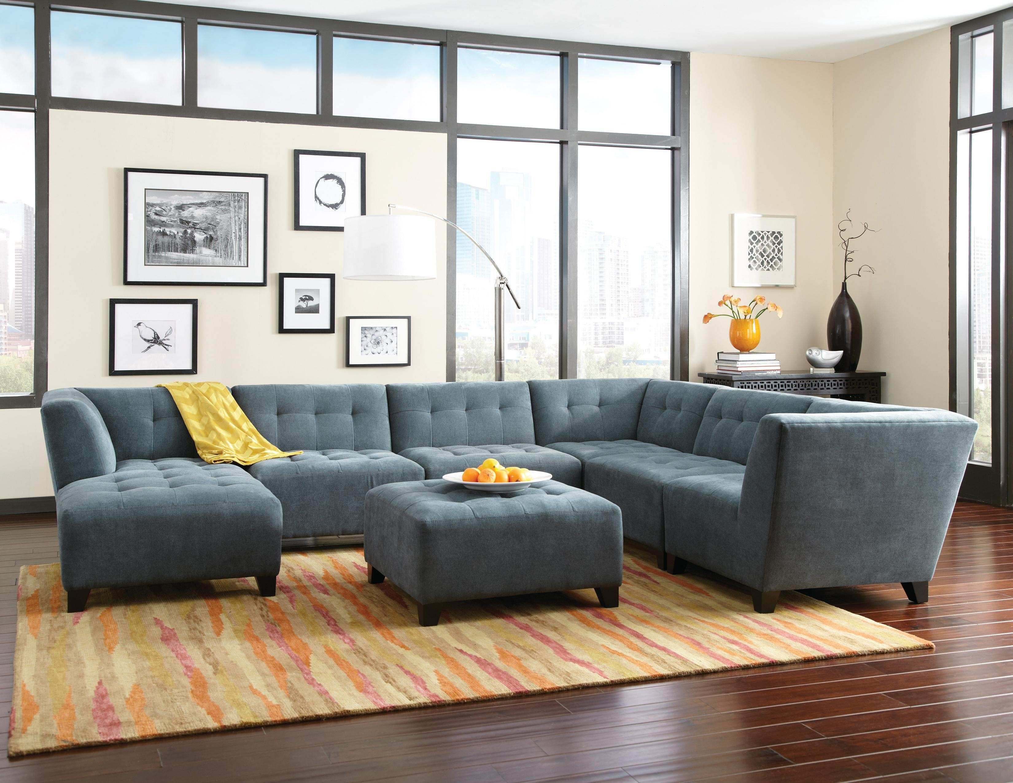 Jonathan Louis Belaire Contemporary Sectional With Tapered Feet throughout Jonathan Louis Sectional