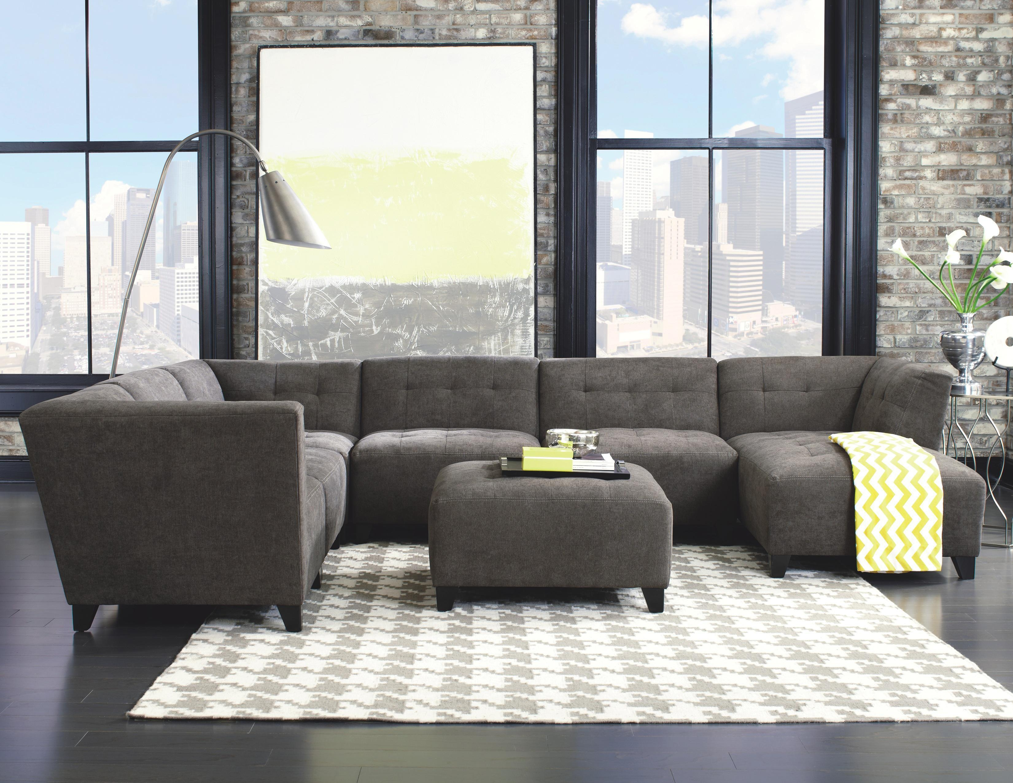 Jonathan Louis Belaire Contemporary Sectional With Tapered Feet within Jonathan Louis Sectional