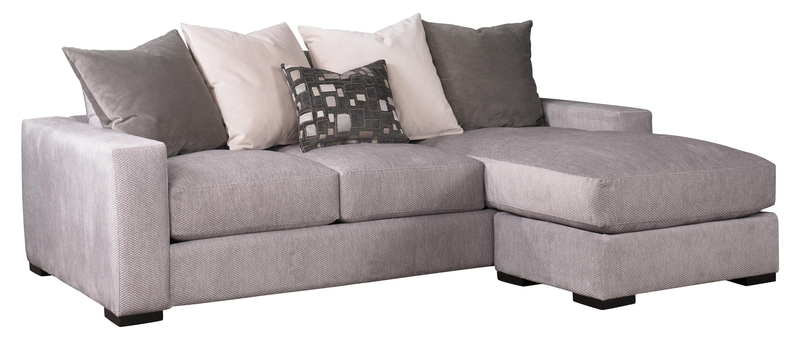 Jonathan Louis Lombardy Contemporary Sofa W/ Reversible Chaise in Jonathan Sofa