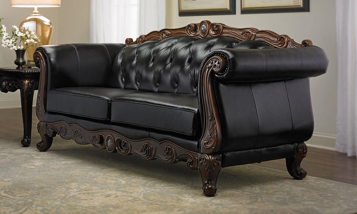 Josephine Leather Camelback Sofa | Haynes Furniture, Virginia's Inside Chippendale Camelback Sofas (Image 11 of 20)