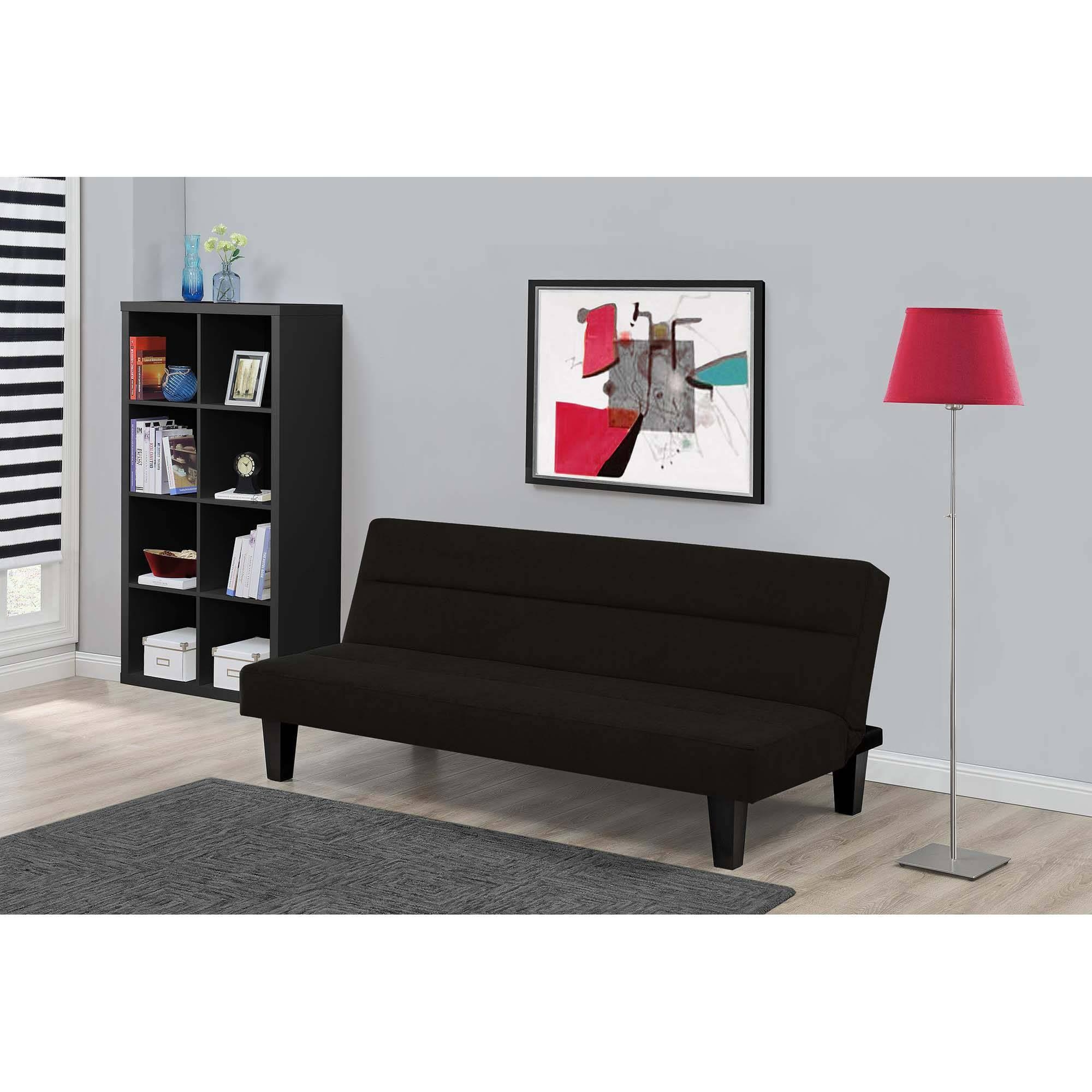 Julia Cupholder Convertible Futon, Multiple Colors - Walmart with Small Black Futon Sofa Beds