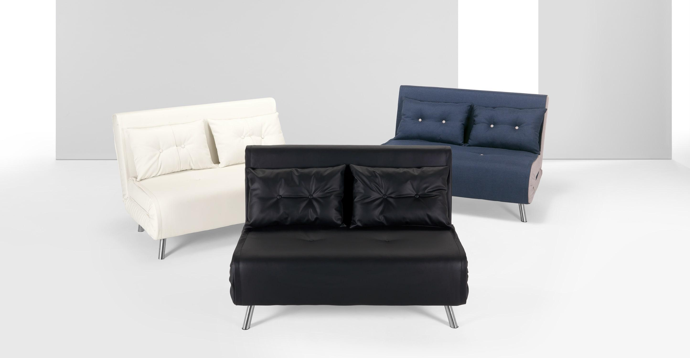 Juno Sofa Bed - Leather Sectional Sofa in Very Small Sofas