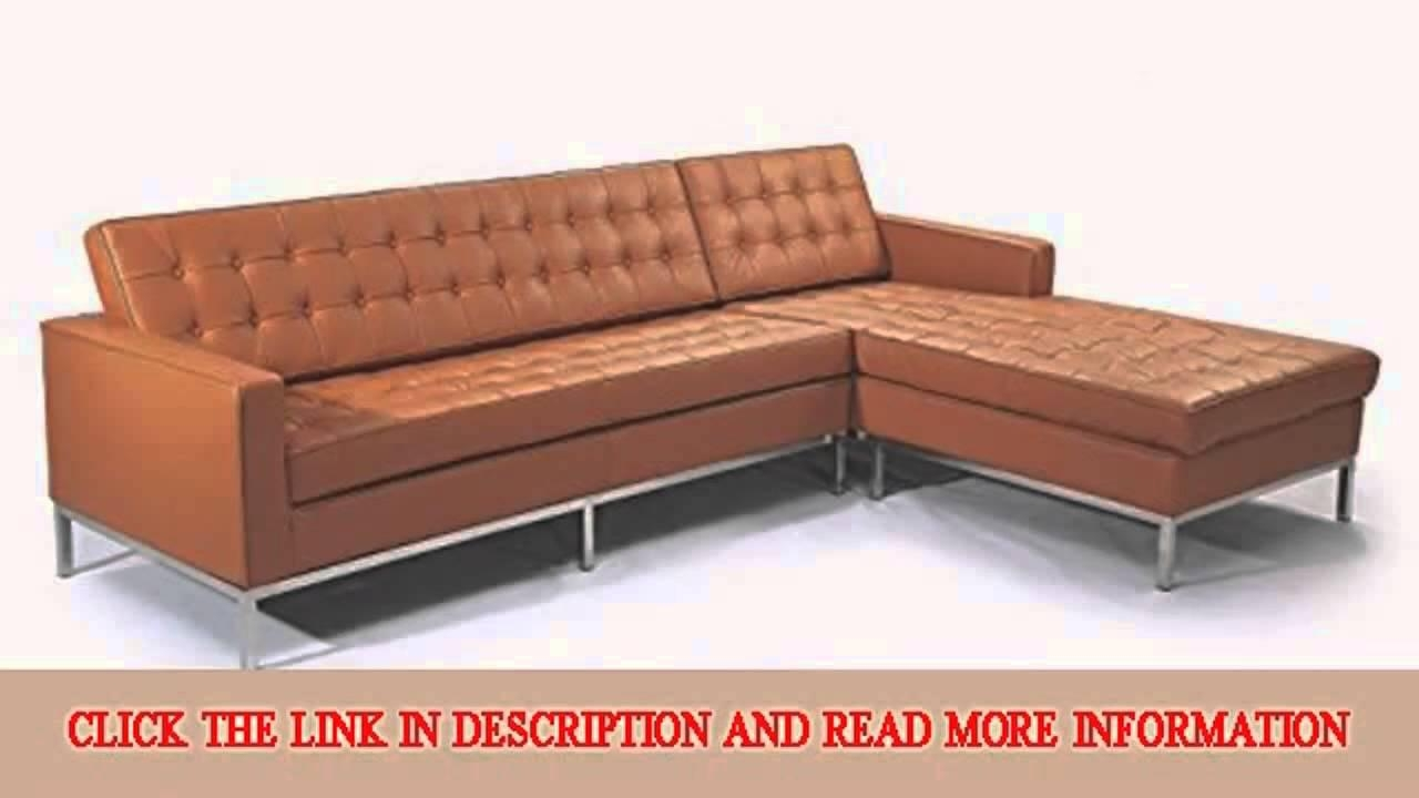 Kardiel Florence Knoll Style Sofa Sectional Right Luxe Camel In Florence Knoll Leather Sofas (Image 16 of 20)