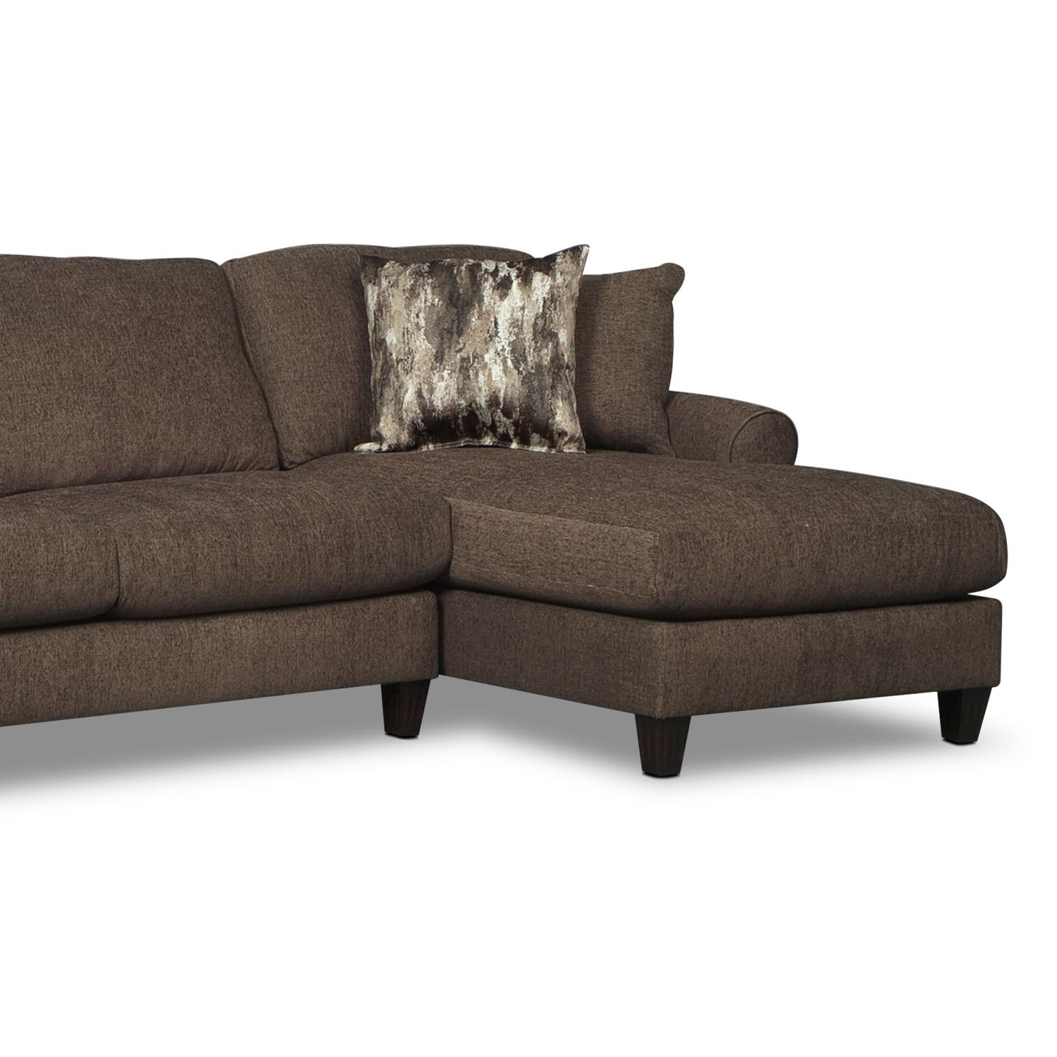 Karma 3 Piece Sectional With 2 Chaises – Smoke | Value City Furniture With Sectional With 2 Chaises (Image 8 of 20)