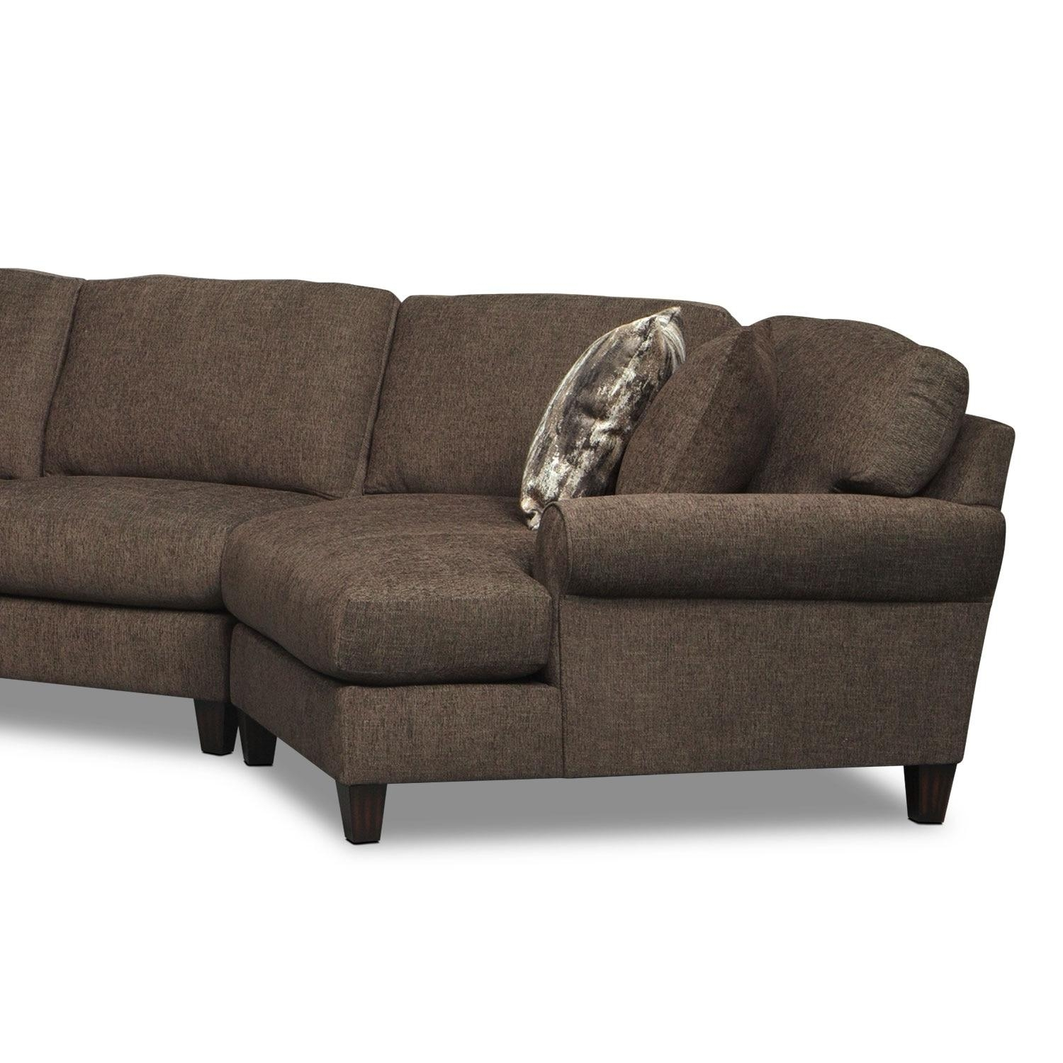 Karma 3 Piece Sectional With Left Facing Chaise And Right Facing For Sectional Sofa With Cuddler Chaise (View 18 of 20)
