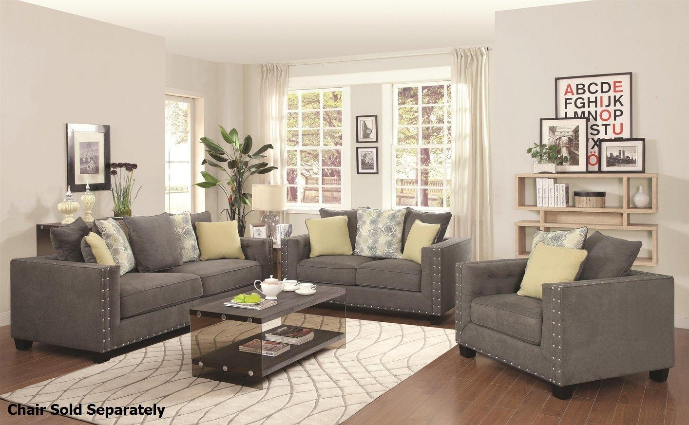 Kelvington Grey Fabric Reclining Sofa And Loveseat Set – Steal A Regarding Reclining Sofas And Loveseats Sets (Image 6 of 20)