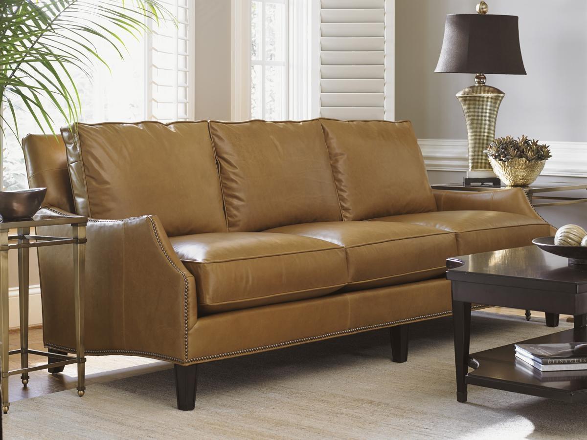 Kensington Place Ashton Leather Sofa   Lexington Home Brands with regard to Ashton Sofas