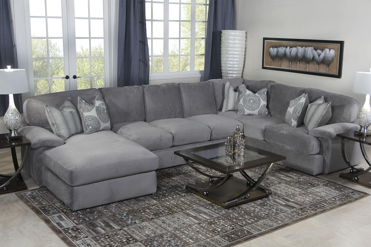 Key West Sectional Living Room In Gray | Mor Furniture For Less Intended For Media Sofa Sectionals (Image 8 of 20)