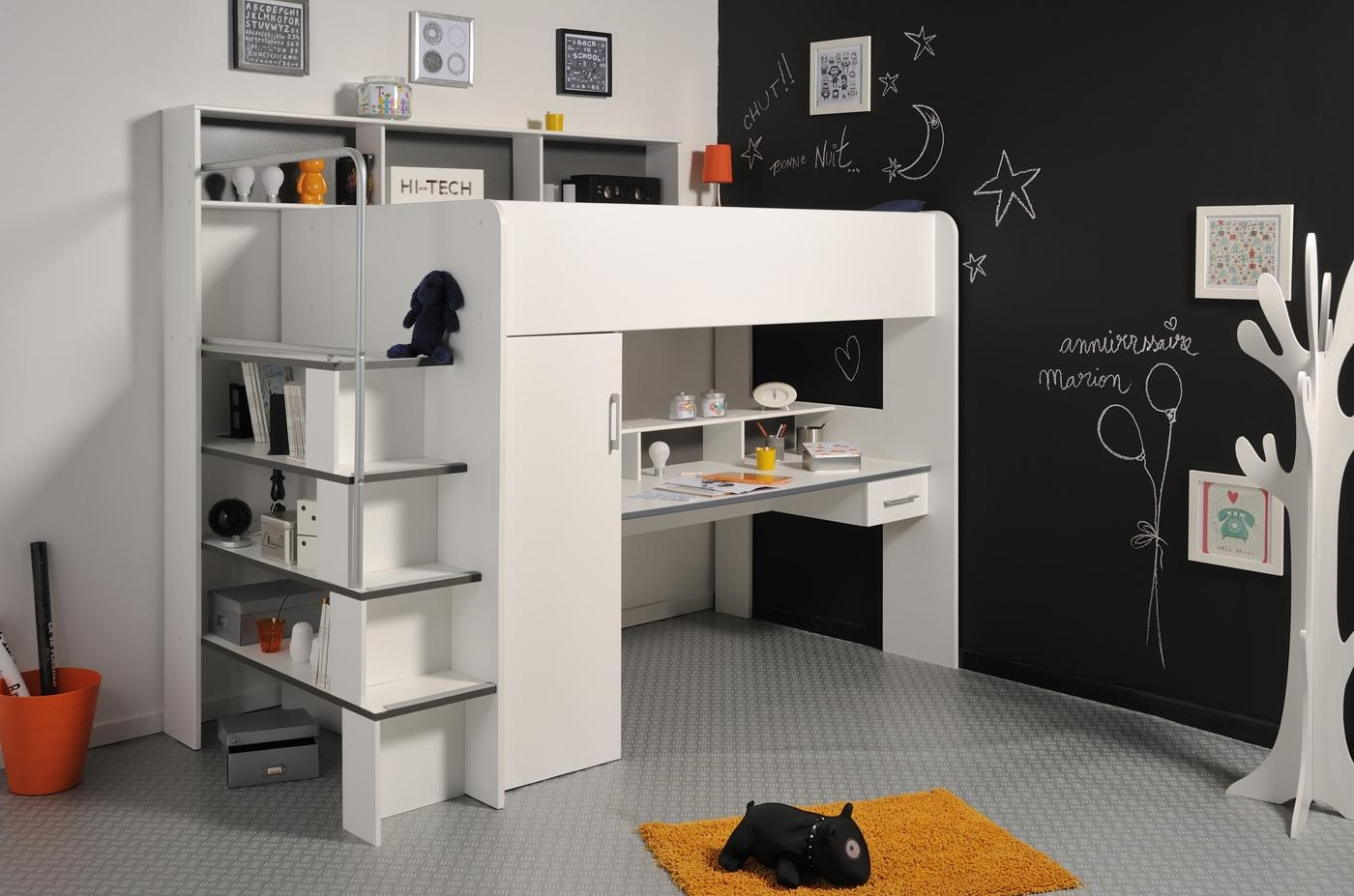 Kids High Sleeper With Futon | Roselawnlutheran Regarding High Sleeper With Desk And Sofa Bed (Image 13 of 20)