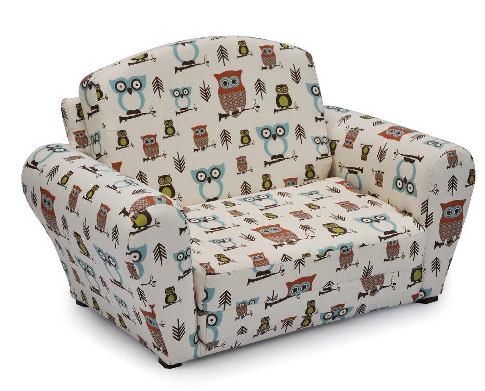 Kidzworld Hooty Village Kids Sleeper & Reviews   Wayfair within Kids Sofa Chair and Ottoman Set Zebra