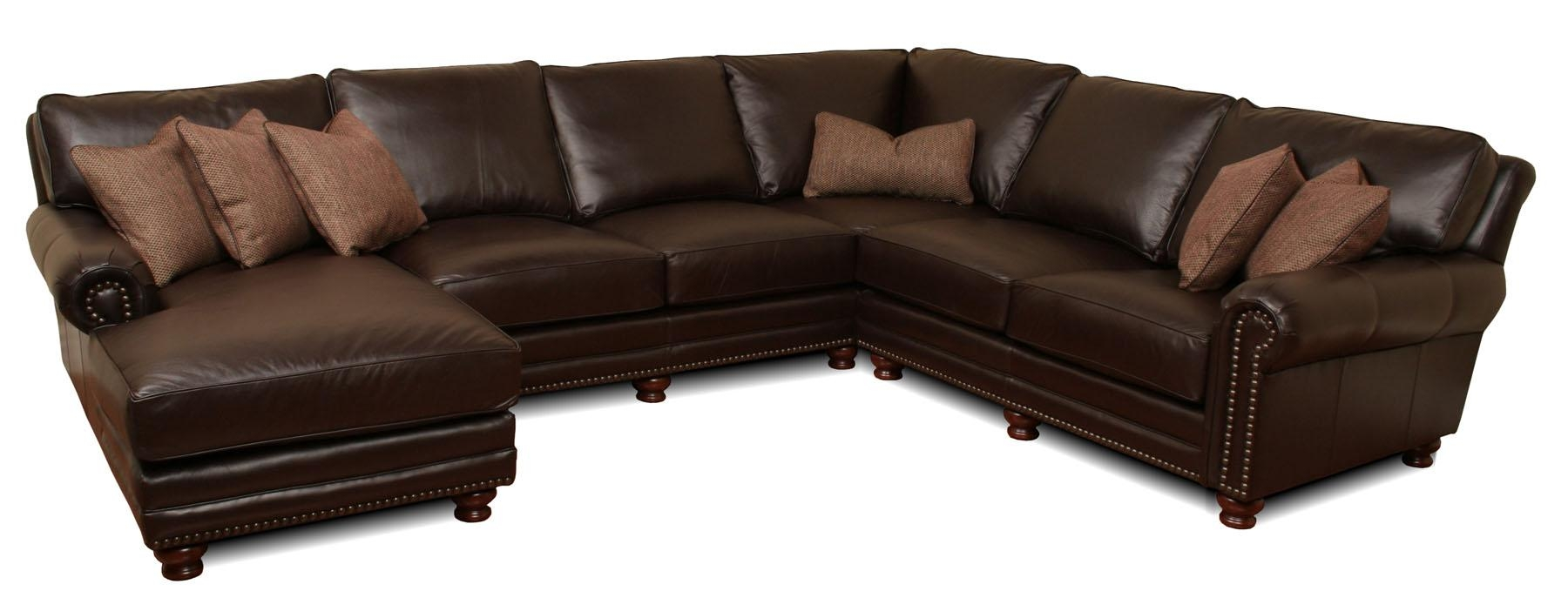 Kingston – Deep Leather Sectional | Leather Creations Furniture With Custom Leather Sectional (Image 10 of 15)