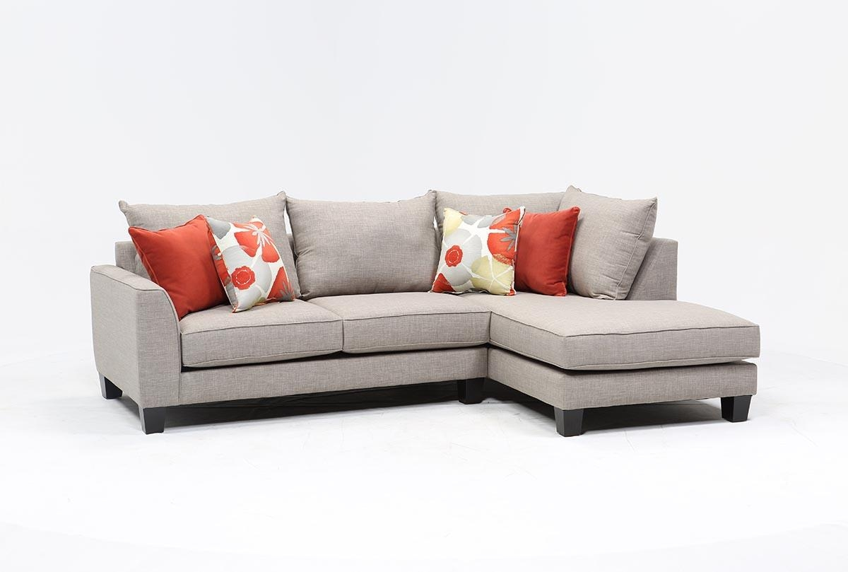 Kira 2 Piece Sectional W/raf Chaise – Living Spaces Intended For Sectional With 2 Chaises (Image 9 of 20)