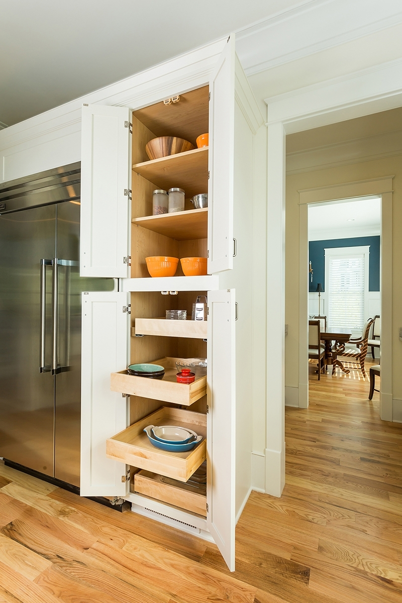 Kitchen Pantry Cabinets With Pull Out Trays & Shelves Within Pantry Cabinets (View 9 of 17)